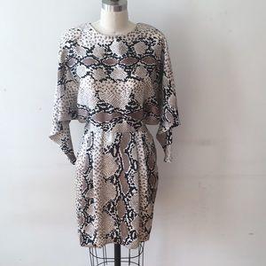 Vintage snake print dress